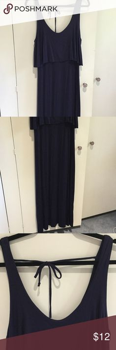 Dark Navy Maxi Dress No size on tag but would guess M or L, like new condition Dresses Maxi