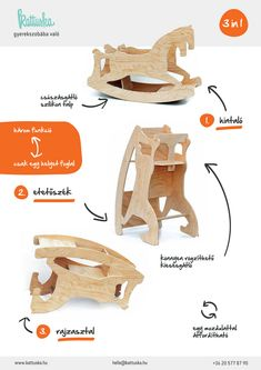 Really awesome! 3in1 Rocking Horse | KATTUSKA