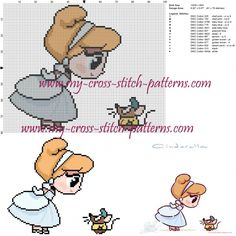 Cinderella cross stitch pattern