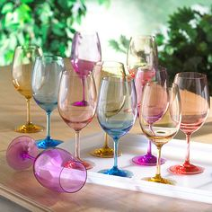 Indoor/Outdoor Mixed Color Wine Glass Party Pack (Set of 12) at Wine Enthusiast - $74.95