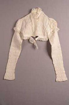 Damesblouse (ca. 1800) Katoen;