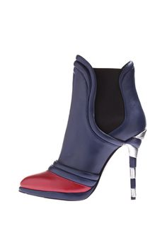 Vionnet - Candy cane inspired stiletto heel and red with navy blue color combination...☮♥♓