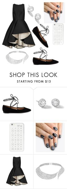 """""""black and wite"""" by kristina-pka ❤ liked on Polyvore featuring beauty, Gianvito Rossi, Rivière, MICHAEL Michael Kors, alfa.K, Halston Heritage and Messika"""