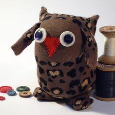 Leopard Sock Owl