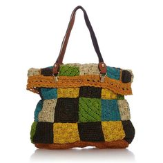 BERLINGO RAPHIA JAMIN PUECH crochet purse