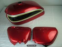Honda cb 750 four k6 flake apricot red