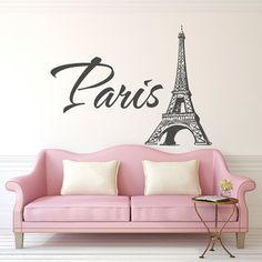 Paris Eiffel Tower Wall Decal Paris Vinyl Wall Decal By PonyDecal