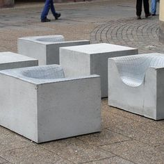 cement outdoor furniture | ... for Nola » Concrete Things Contemporary Outdoor Seating Design