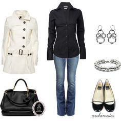 A fashion look from March 2012 featuring Ben Sherman blouses, Topshop coats and True Religion jeans. Browse and shop related looks.