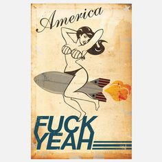 F_ck Yeah Print 24x36 now featured on Fab.