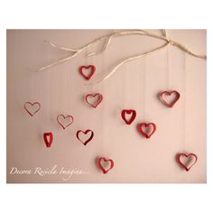 Use double sided scrapbook paper for the hearts