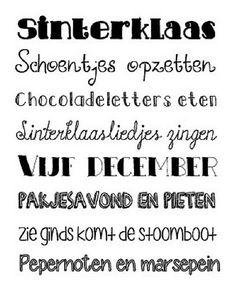 Sinterklaasposter / zwarte letters