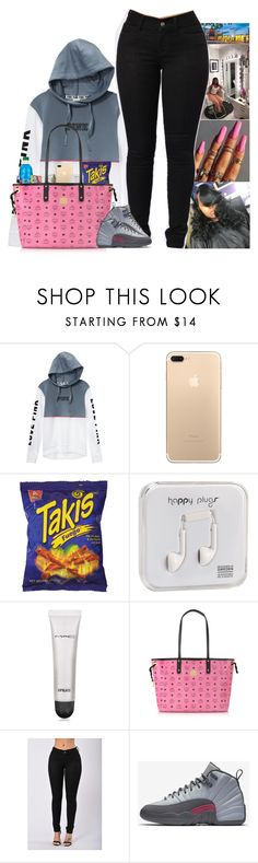 """"" by kennisha84 ❤ liked on Polyvore featuring Victoria's Secret, Fuego, Happy Plugs, MAC Cosmetics, MCM and NIKE"