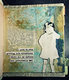 Tattered Angels Paints on Art Journal