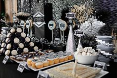 Love the color palette of this modern holiday party