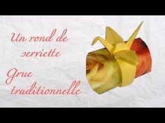 Origami ! Un rond de serviette grue traditionnelle. - YouTube