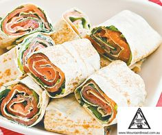 Mountain Breads' Smoked Salmon rolls are the perfect way to kick off any dinner party!