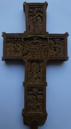 Amazing cross. Miniature carving. Side two.