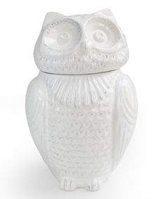 Another great find on #zulily! Large White Owl Jar #zulilyfinds