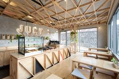 Jury Cafe by Biasol Design Studio #plywood #wood