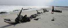 Skeleton coast, Namibia, shipwreck