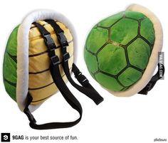 A ninja turtle shell-bag! Awesome!