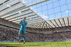 Newcastle goalkeeper Martin Dubravka applauds the home supporters on a memorable final day...