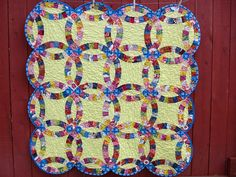 Good Folks Double Wedding Ring Quilt, via Flickr. #imadethis