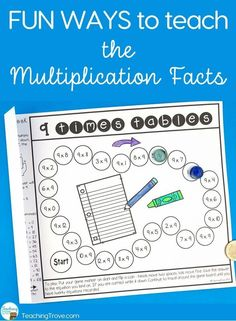 Teach multiplication strategies with multiplication activities and games. #teachingkidsmath