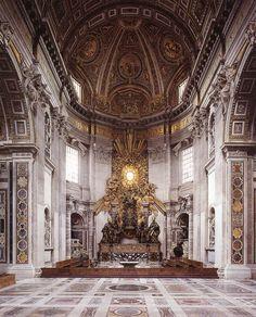 The Throne of Saint Peter - Basilica di San Pietro, Vatican