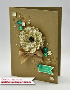 Splotch Design - Jacquii McLeay Independent Stampin' Up! Demonstrator: Gorgeous Grunge Flower Cards