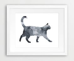 Cat watercolor from Etsy.