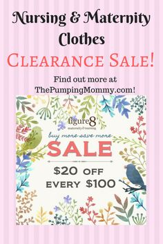 Nursing and Maternity Clothes Sale Clearance going on now! I love sharing good deals with my readers and this is a great one. If you haven't already, jump over to ThePumpingMommy.com and check where you can find some amazing deals on summer nursing and maternity close, baby items, workout clothes, and more!