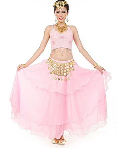06668e60f0 Amazon.com: Beverly Women's Five Flowers Belly Dance Costume Set, 7 Pieces:  Clothing