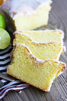 Coconut Lime {Greek Yogurt} Pound Cake
