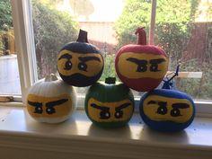 Ninjago Halloween pumpkins