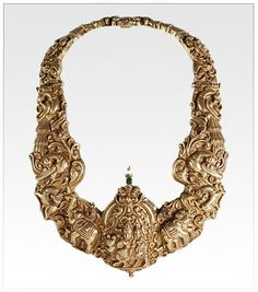 South Indian solid #gold #jewellery #lord #shiva motif and animal motifs