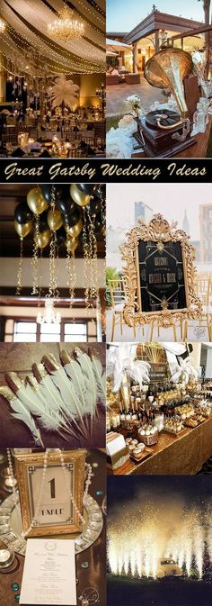 great gatsby themed vintage wedding ideas