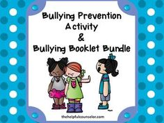 Bullying Prevention Activity Pack and Booklet Bundle #bullying $