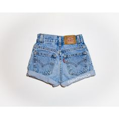 All Sizes Vintage Hercules Levis High Waisted Denim Shorts High... (420 ZAR) ❤ liked on Polyvore featuring shorts, silver, women's clothing, high rise jean shorts, high-waisted cut-off shorts, high waisted shorts, denim cutoff shorts and cut-off shorts