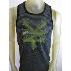 NWT Zoo York Urban Smolder black tank top street skate surf shirt men's LARGE