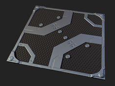 Metal sci-fi floor