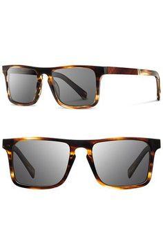 134ff2d31bf324 Shwood  Govy  52mm Polarized Wood Sunglasses available at  Nordstrom  Polarized Sunglasses