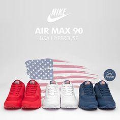 best service d2abc af415 Nike Air Max 90 Hyperfuse  USA Pack  Nike Air Max, Air Jordan De
