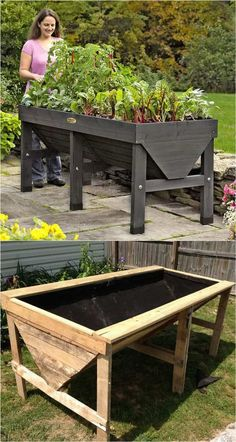 A pallet raided bed! 28 most amazing raised bed gardens, with different materials, heights, and many creative variations. Great tutorials and ideas on how to build raised beds ! A Piece of Rainbow