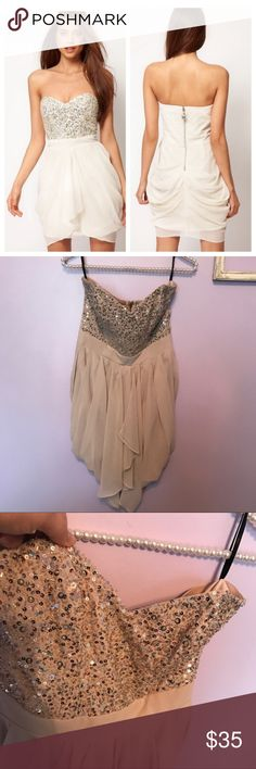 d46d2e20626b Lipsy VIP ASOS Beaded Bust Party Dress UK size 10 / 8 US Great condition  except