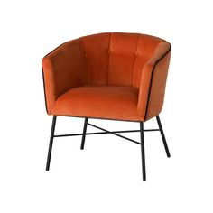 This is the Rust Velvet Urban Tub Chair, at high, wide and deep this is a large tub chair making it a practical and cosy addition to your soft furnishings collection. The urban style of the ever popular tub chair makes it more contempora Retro Armchair, Large Tub, Hill Interiors, Round Chair, Terracota, Rust Orange, Rust Color, Colour, Colorful Chairs