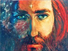 Prophetic Art Painting of Jesus. Look at those eyes. Please also visit www.JustForYouPropheticArt.com for more Prophetic Art to pin.