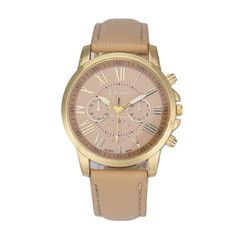 Classic Faux Leather Wristwatch