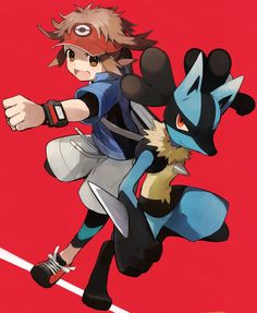 Nate and Lucario